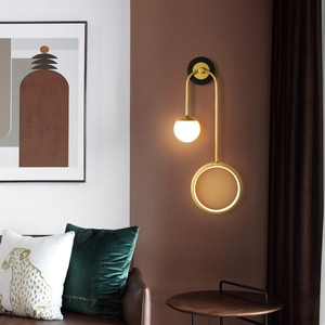 Modern LED Left And Right Pendulum Wall Lamp For Bedroom Bedside Home Indoor Stairs Lighting Novelty Light Kitchen Fixture