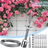 stainless steel trellis for climbing plants professional system as complete set with wall brackets and 3 mm steel cable garden