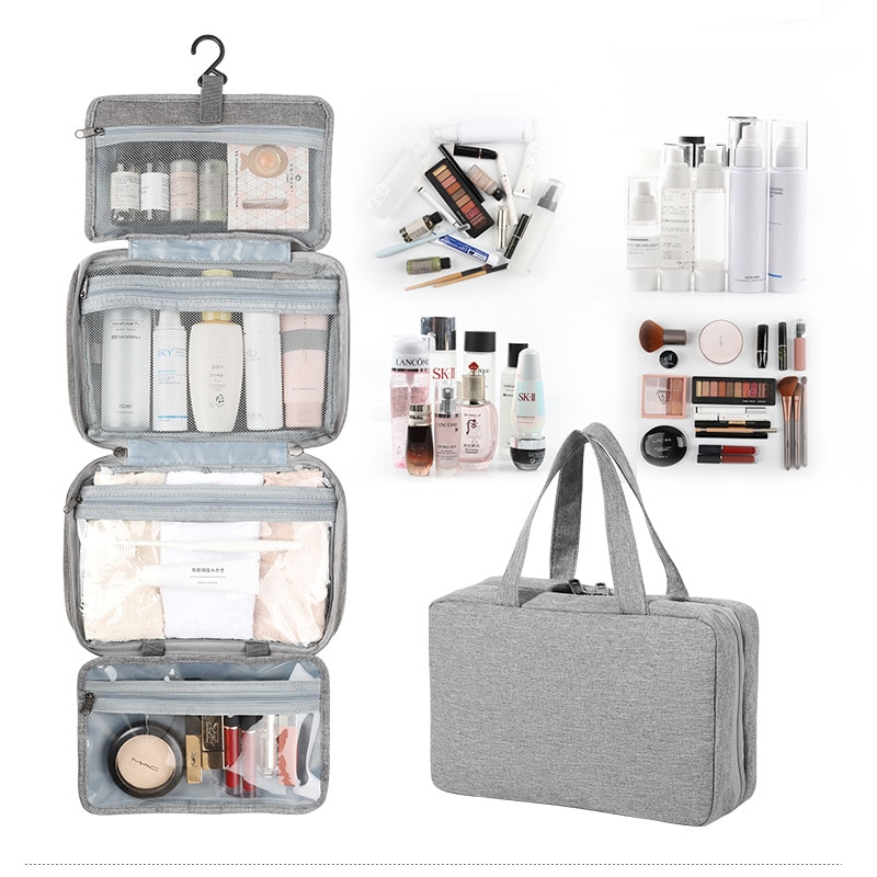 Hanging Portable Travel Toiletry Bags Waterproof Large Makeup Box Wholesale Women Cosmetic Cases Tra