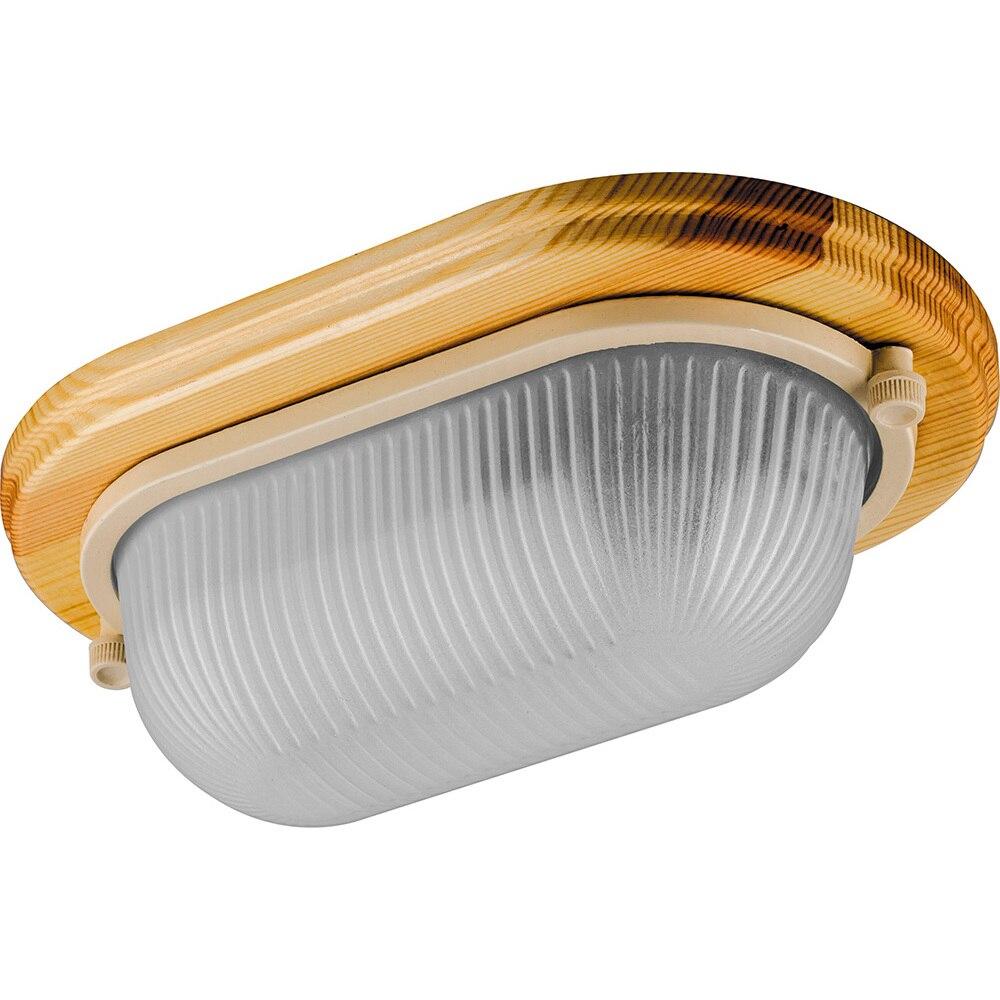 Lámpara de techo IP54, 220V 60 W E27, madera, Arce, oval NBO 04-60-011 11571