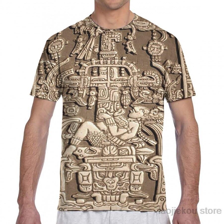 Antigos Astronautas, Pakal, Maya, tampa do sarcófago, das mulheres dos homens T-Shirt all over print fashion girl t shirt do menino cobre t
