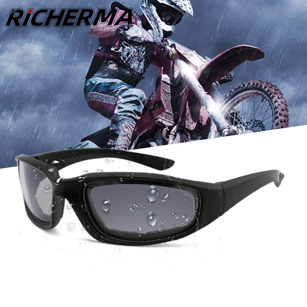 Очки для мотоциклистов, водонепроницаемые, с антибликовым покрытием