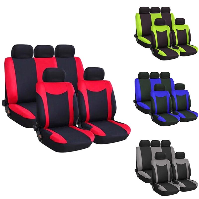 9Pcs Car Seat Automobiles Seat Covers Full Set Car Seat Covers Universal...