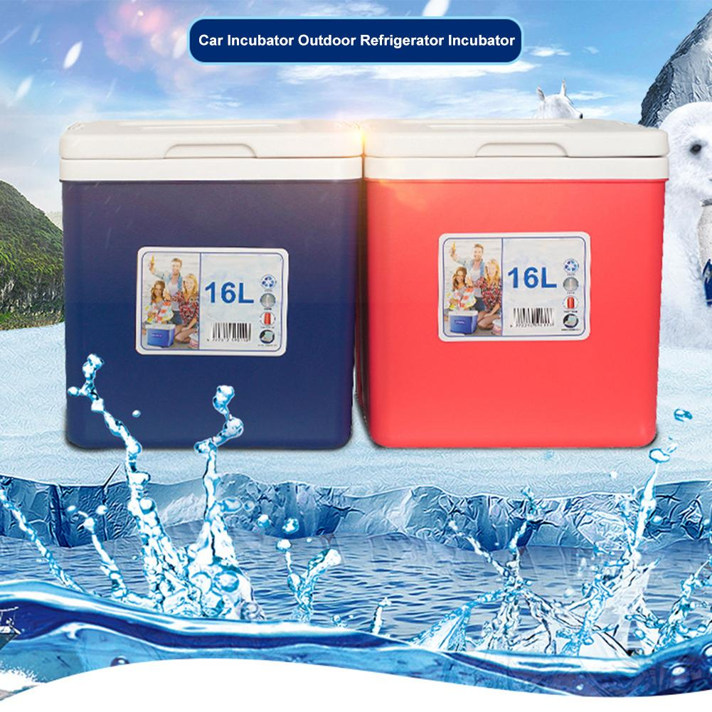 Caja de aislamiento de coche para exteriores 16L, nevera portátil para coche, nevera más caliente, caja de refrigerador para coche, organizador de hielo, caja de preservación de medicina
