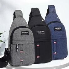 Usb Charge Shoulder Bag Men Messenger Bags Male Waterproof Sling Chest Bag Boy Travel Bagpack Men An