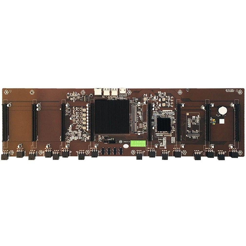 HM65 الإدراج المباشر ثمانية فتحة للبطاقات BTC الحالة الصلبة مكثف B250 B85 متعددة بطاقة اللوحة دعم 1660 2070 3090 Rx580