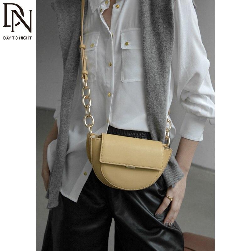 DN Saddle Bag New Crossbody Bags Women's Leather Bag Simplicity Shoulder Bag for Women Fashion Bag 2