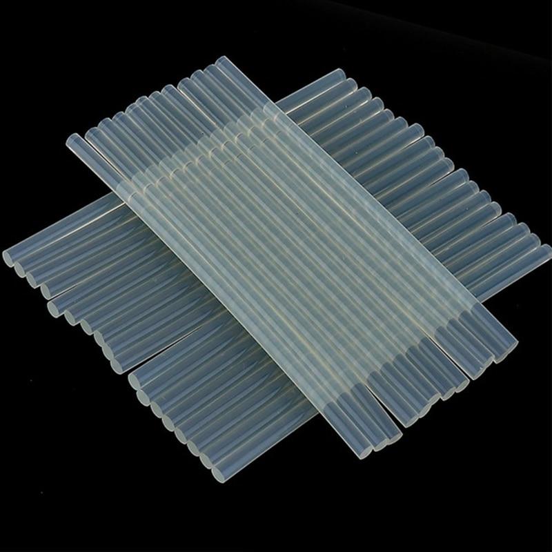 High Viscosity 20pcs 7 x 100mm Non-Toxic EVA Clear Hot Melt Glue Sticks for Hot-Glue Gun Glue Craft Album DIY Adhesive Repair To