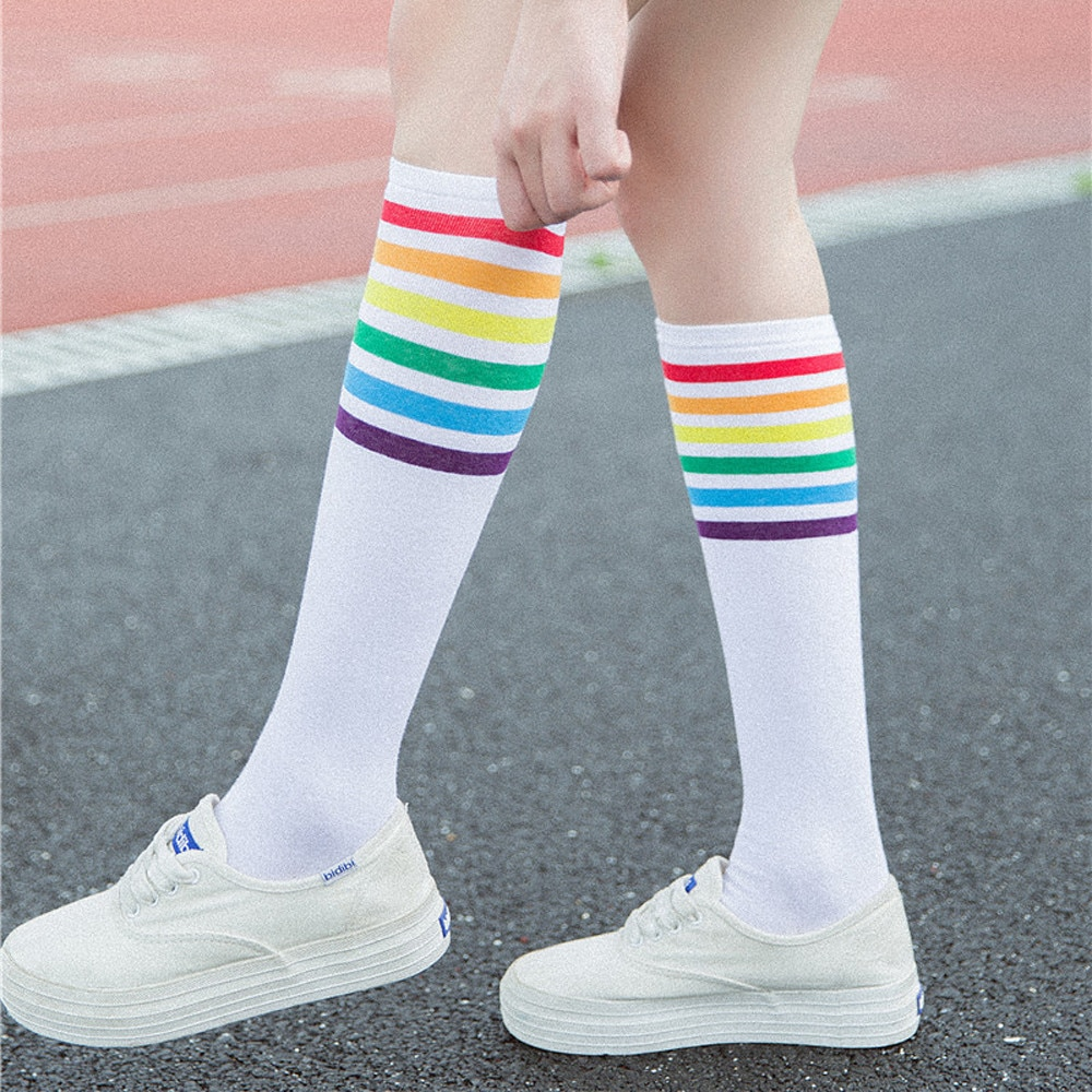 long socks women cotton College Wind Thigh High Socks Comfortable Over The Knee Girls Womens funny socks set medias de mujer  #P