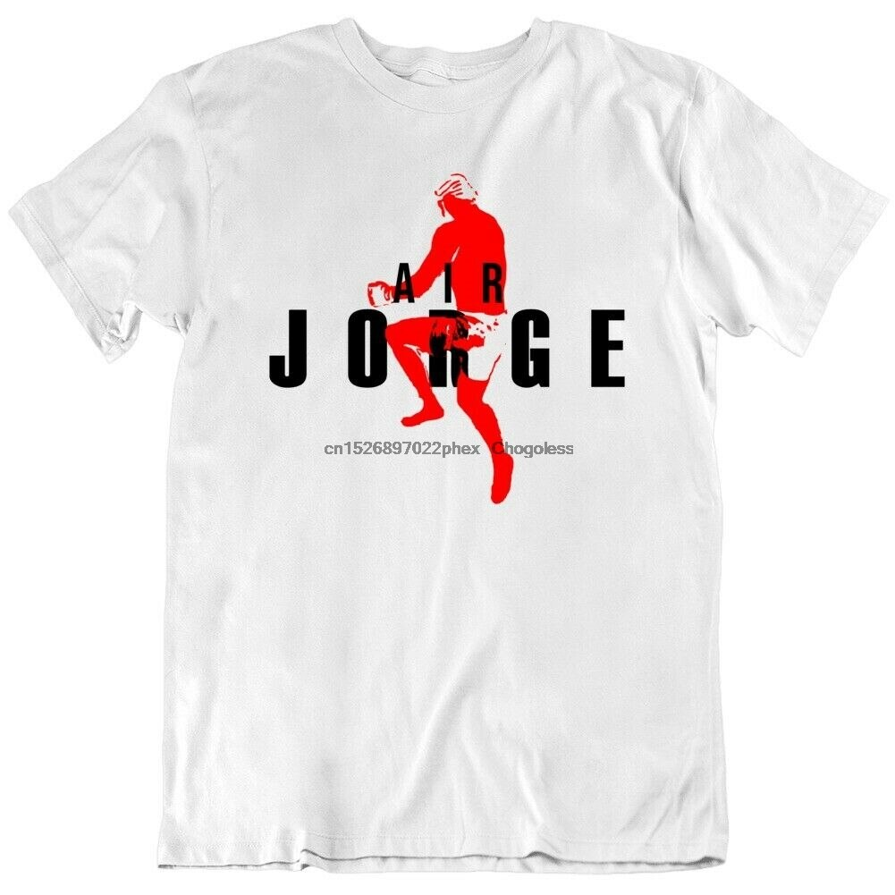 Ar jorge masvidal voando joelho knockout ben askren lutador ventilador v3 t camisa