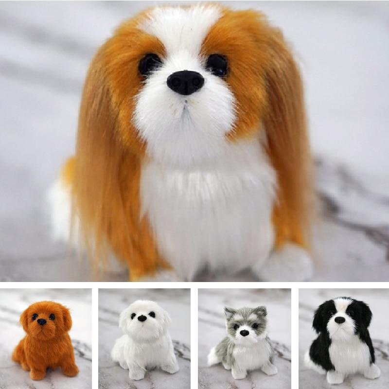 Simulation Animal Display Model Dog Plush Toys Photographic Props Home Decoration Christmas Birthday