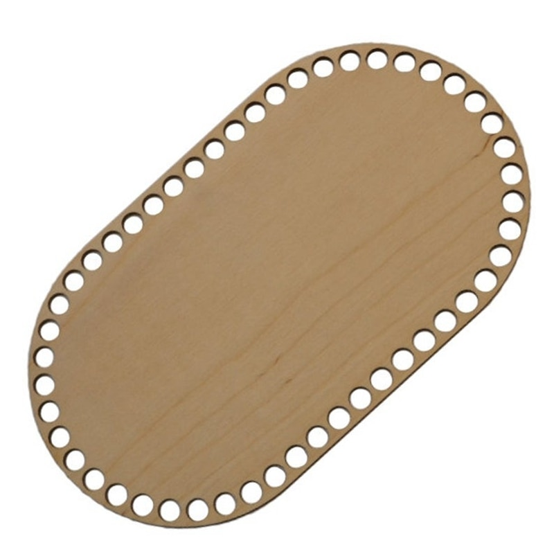 Juego de 5 uds. De Madera ovalada con agujeros, fondo de madera para cesta