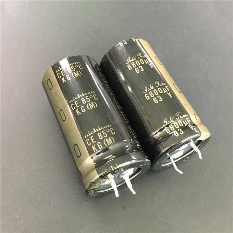 2 Pcs 6800 Uf 63V Nichicon Kg Serie 25X50 Mm 63V6800uF Gold Tune Hifi Audio Condensator