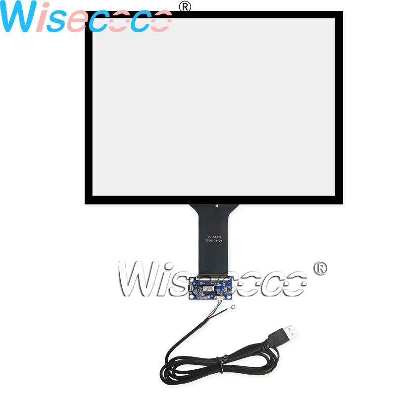 Pantalla táctil capacitiva Wisecoco 15 pulgadas USB Plug and Play 10 puntos Panel de cristal táctil digitalizador 324,9*248MM