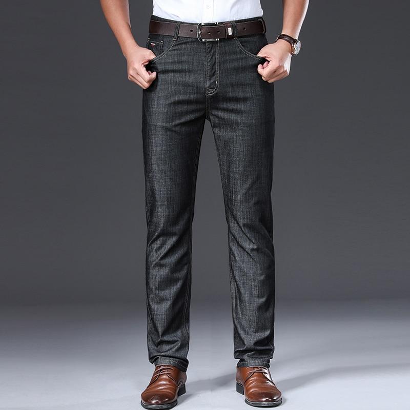 BROWON-بنطلون جينز رجالي عتيق ، ناعم ومسامي ، متوسط مستقيم ، ملابس صيفية ، ماركة 2021