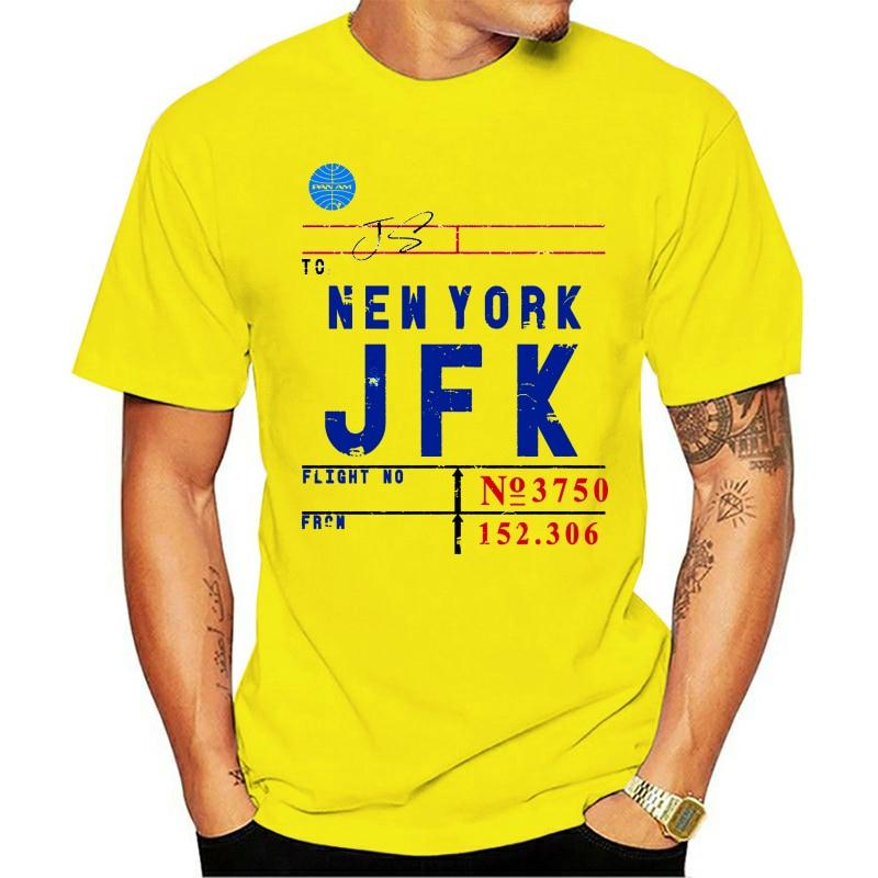 Camiseta Vintage para hombre con etiqueta de línea aérea, serie JFK Airport New York de designedforflight, camiseta para mujer