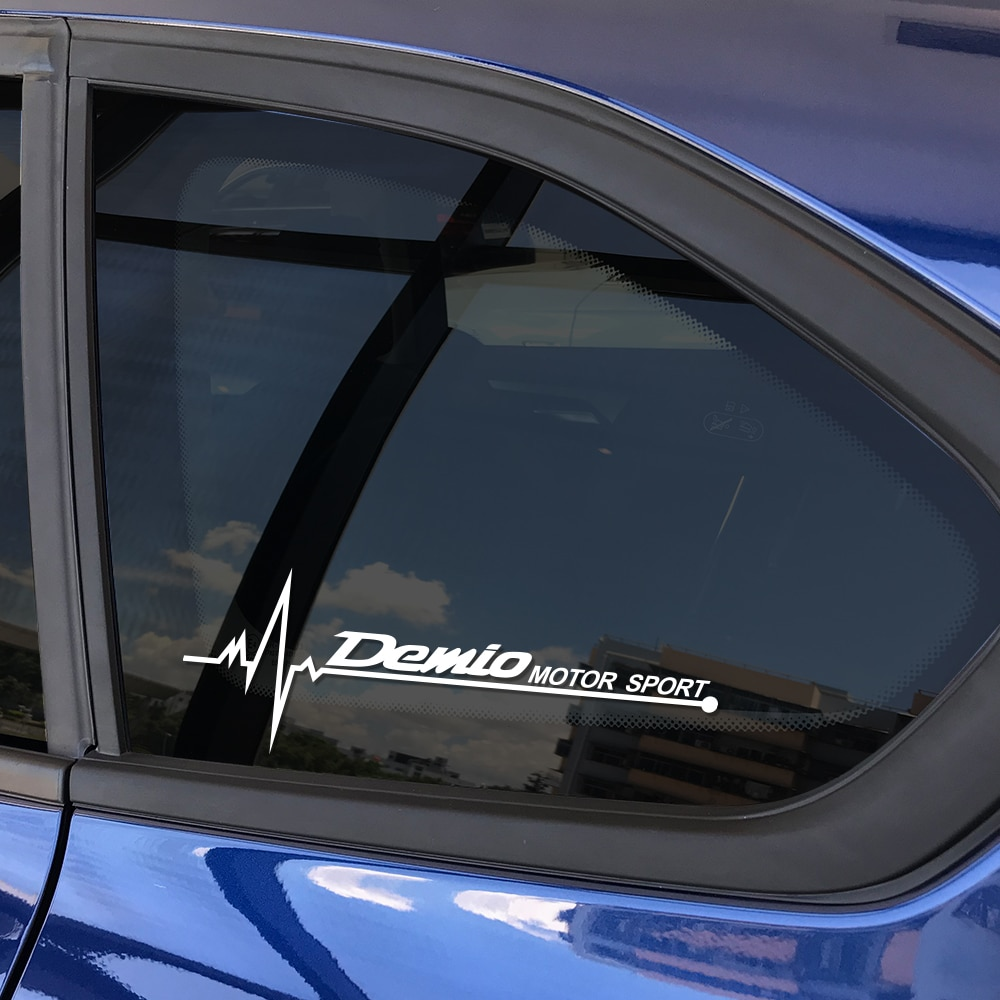 2 uds. Pegatinas de ventana lateral de estilo de coche para Mazda Demio reflectante autodecoración calcomanías deportivas vinilo Auto ventana accesorios de coche