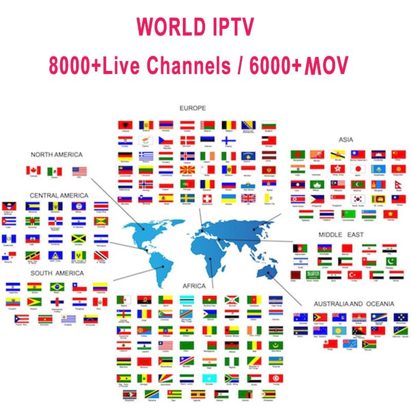 Suscripción IP TV Premium IPTV España M3u 1 año con 7500 + TV en vivo y 6000 + movs españoles Mov HD Lista de Europa mundial IPTV Server6