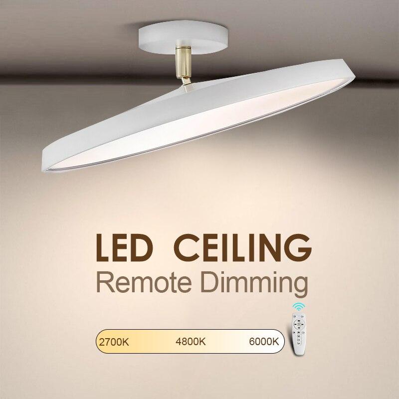 Remote Control LED Ceiling Light Adjust Brightness Color Lamp Ultra Thin Modern Lighting LED fixtures for Living Room Bedroom