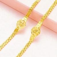 bracelets for women vietnam sand gold bracelet blessing chain fashion jewelry gold color watch chain bracelet femme pulseras