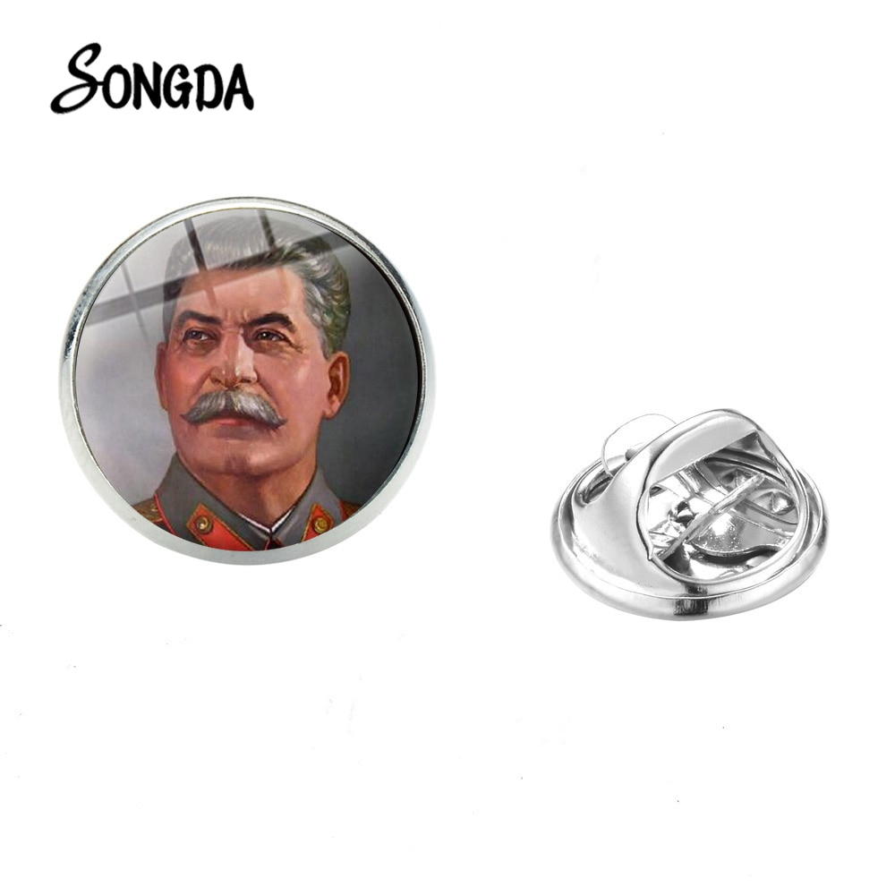 Vintage CCCP signo héroe Stalin broche de alta calidad USSR estrella hoz martillo símbolo insignias de cristal broches Pin para hombres regalos