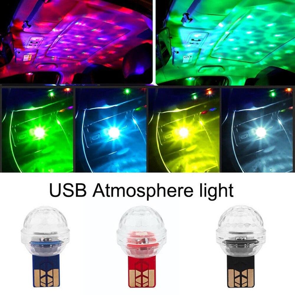 Car Mini USB LED RGB Colorful Ambient Light For Dodge SRT RAM 1500 2500 3500 Viper Charger Challenger Caravan Caliber Durango
