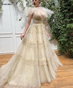 Plus Size Sexy Prom Dresses 2020 V-Neck Elegant Women Celebrity Dresses Evening Wear Turkish Couture Vestidos De Fiesta Robes