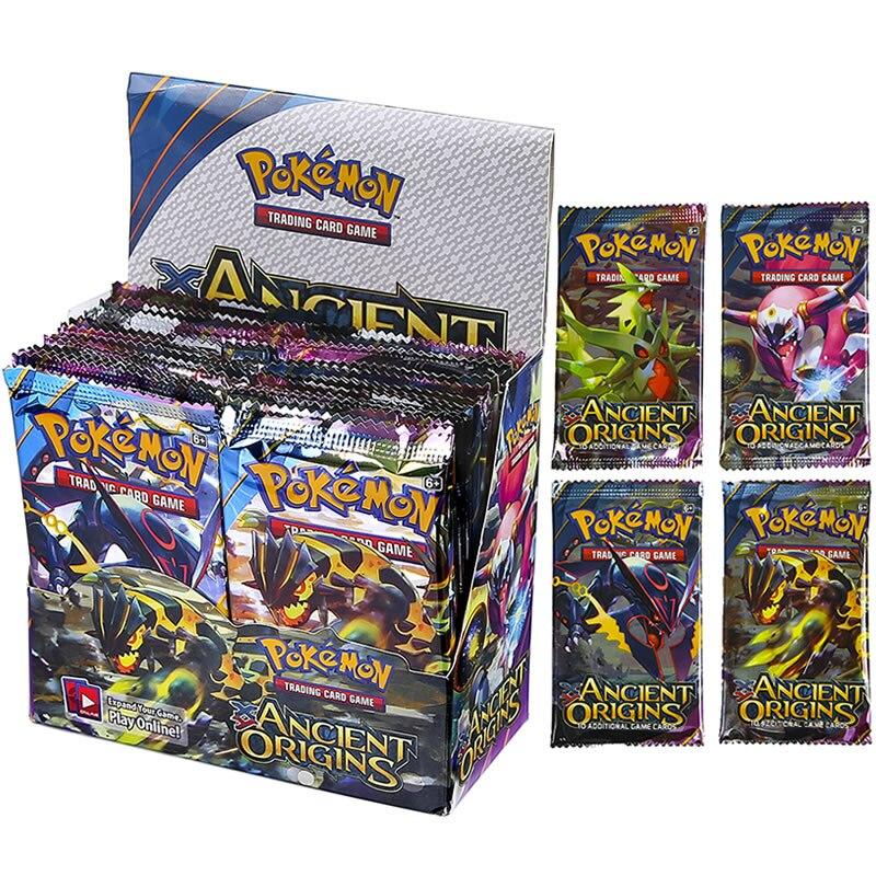 324 Uds. Tarjetas de Pokemon inglesas antiguas ORIGINS GX EX MEGA 36-Pack Booster Box VMAX Trading niños Juego de cartas colecciones juguetes de Pokémon