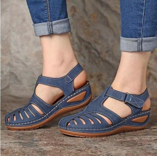 Joditty mujer verano Vintage sandalias hebilla Casual costura Mujer Zapatos sólidos zapatos femeninos damas plataforma zapatos Plus