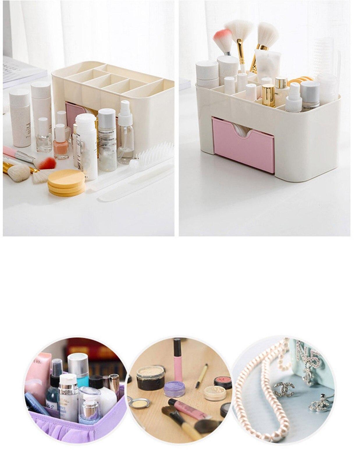 Cosmetic Organizer Saving Space Desktop Comestics Makeup Storage Drawer Box Caja Almacenaje Compartment Tool Makeup Organizers