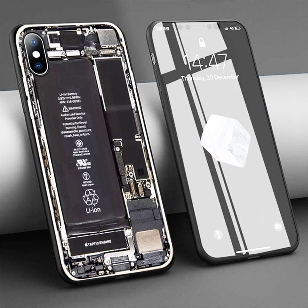 Grappige Coque Case voor iPhone 11 Pro Max X 5 S 6 6S XR XS SE 7 8 Plus case Batterij Geen Back Cover Siliconen Telefoon Cover Fundas