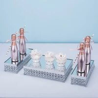 3pcs gold silver electroplate cake stand set display wedding birthday party dessert cupcake plate rack