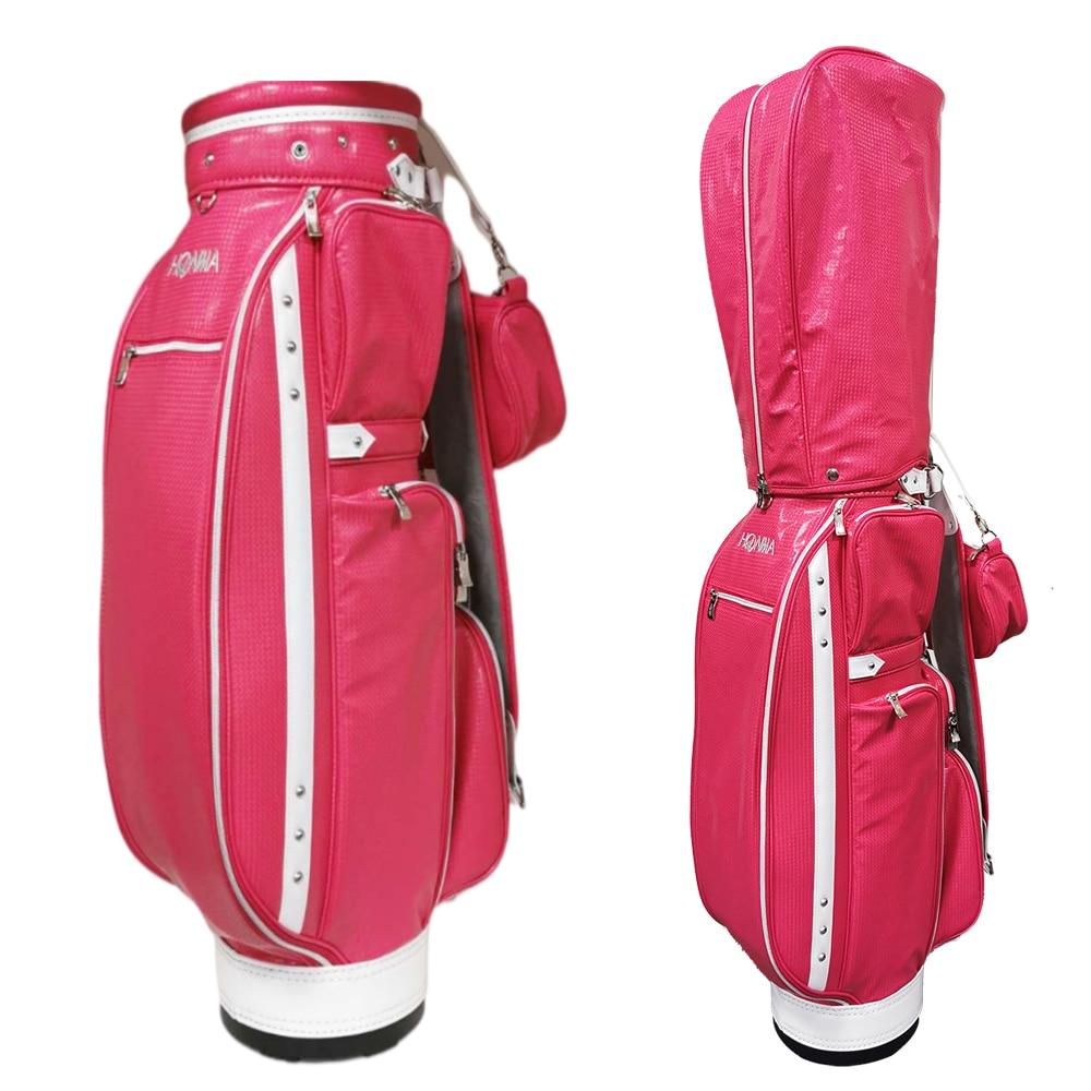 golf bag women ladies' premium PU golf standard bag Red light waterproof option 9.5 inches HONMA golf club bag