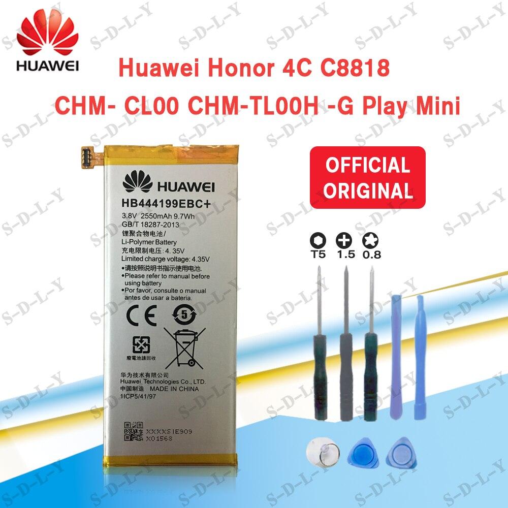 100% Original 2550mAh HB444199EBC+ Hua Wei C8818 Built-in Battery For Huawei Honor 4C Replacement Repair Parts+Tracking + Tools