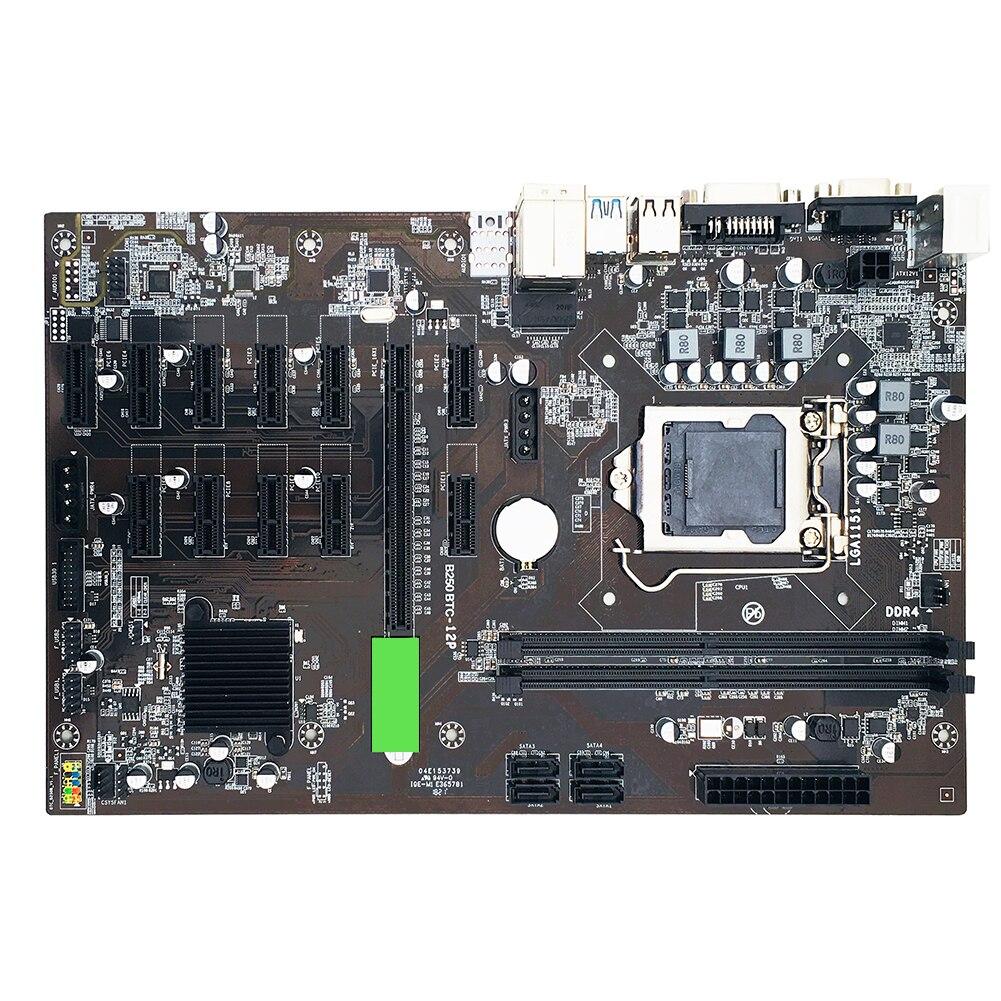 B250 mining motherboard 12 GPU Bitcoin Crypto Etherum Mining JW B250P B250-BTC PRO DDR4 LGA 1151 Motherboard SATA3.0 Support VGA