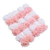 Roses artificielles en mousse PE de grande taille  6 cm  20 pieces  fausses fleurs  pour un mariage  pour du craft art  pour une couronne  pour decorer la maison