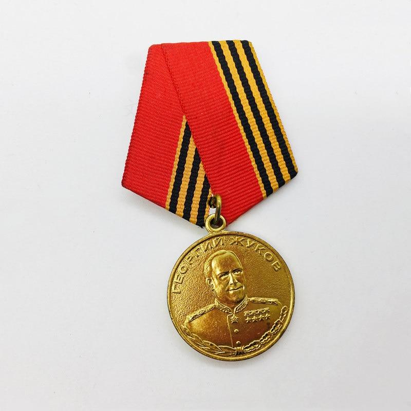 Unión Soviética guerra pacífica konstantinovic Marshal Georgy Zhukov 100th aniversario medalla de cobre URSS héroe Honor insignia