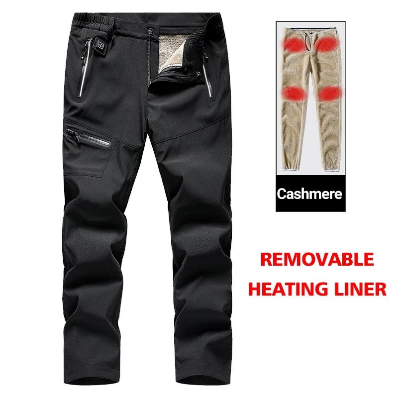 USB Thermal Heating Pants Winter Men Women Smart Heated Pant Waterproof Windproof Camouflage Trousers Outdoor Casual Climb