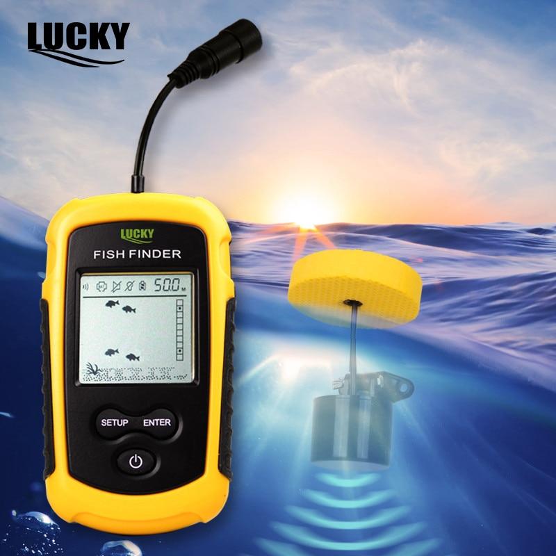 FF1108-1 Alarm 100M Portable Sonar Fish Finders Fishing Lure Echo Sounder Fishing Finder Lake Sea Fishing Russian Warehouse enlarge
