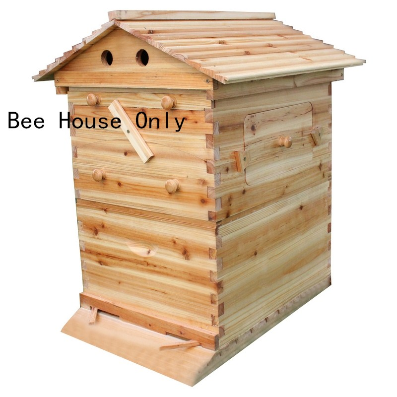 التلقائي خلية النحل الخشبية منزل خشبي النحل صندوق معدات تربية النحل النحال أداة لتوريد خلية النحل 66*43*26 سنتيمتر جودة عالية