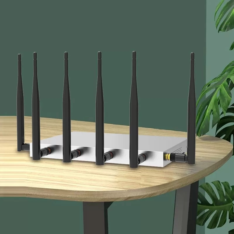 2.4G 5.8G 1200Mbps Wireless Router Metal Enclosure 5dBi Antenna Support RM160R-GL EM-12G Modules Wifi Routers enlarge