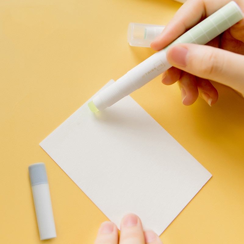 Barra de pegamento sólido tipo de rotulador pegamento Elmers efectos de escritorio creativos de Kawaii DIY Scrapbooking niños regalo Oficina escuela suministros