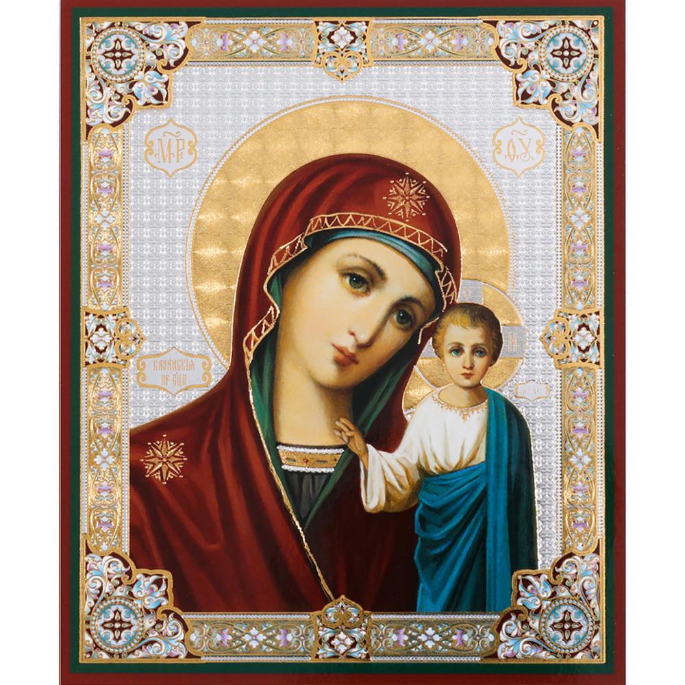 5d square round diamond painting Virgin and Child of Kazan Orthodox Christian Icon mosaic set diamond embroidery sale YG1486