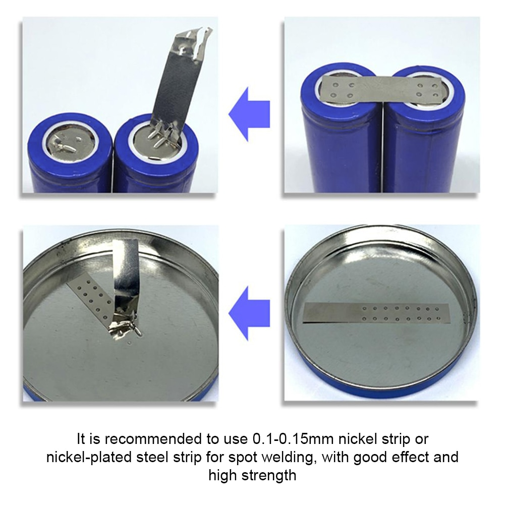 OLED 18650 Portable Spot Welder Handheld Adjustable Uses Two 5300mah Batteries Spot Welding Tool DIY Spot Pen Welding Tool enlarge