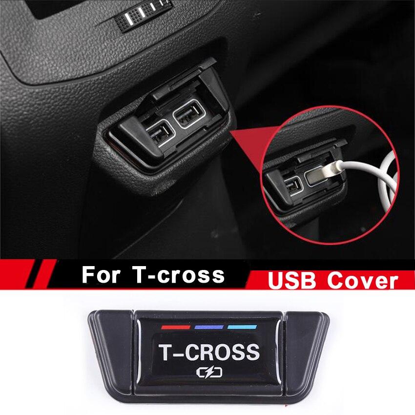 Автомобильная задняя консоль, центральный usb-порт для зарядки, защитная крышка, Пылезащитная рама для Volkswagen VW T-cross Tcross, 2019