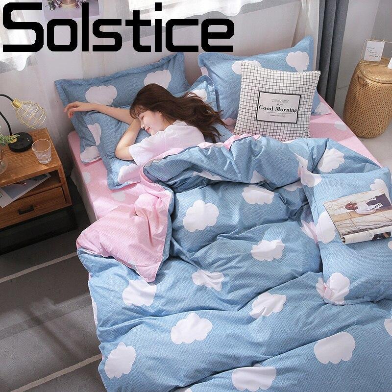 Solstice homeuse juvenis conjuntos de cama folha capa edredão fronhas estilo luxo casa consolador conjuntos tamanho completo 3-4pcs