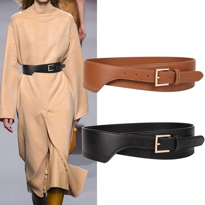 New Fashion Belts for Women PU Leather gold square pin buckle cummerbunds HOT body corset cummerbund