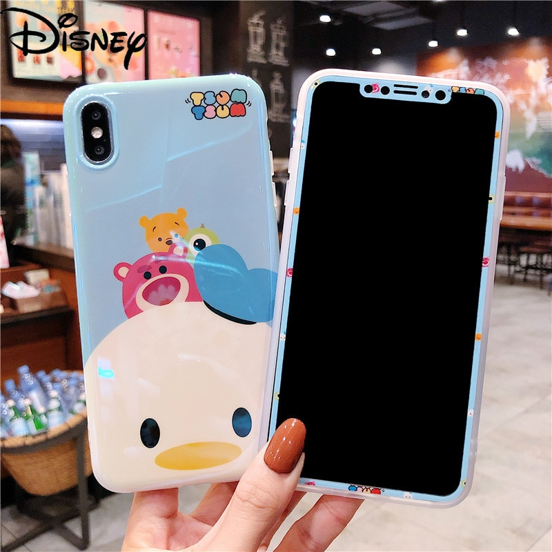 Disney for IPhone11 Mobile Phone Case for IPhone7/8plus/x/xs/xr/11pro/7plus/xsmax Cartoon Cute Mobile Phone Film with Stand  - buy with discount