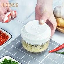 BEEMSK coupe-légumes main tirer hachoir mélangeur processeur ail piment carotte oignon viande fruits déchiqueteuse trancheuse broyeur râpe