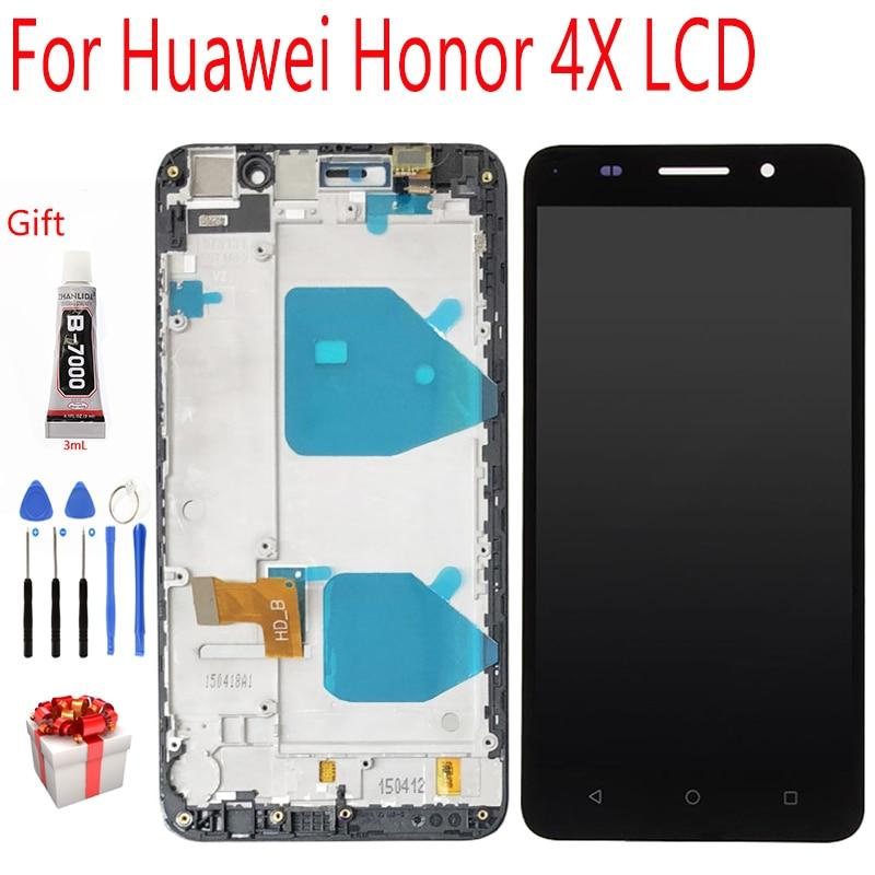 Módulo de pantalla Original para Huawei Honor 4X pantalla LCD montaje de pantalla táctil digitalizador para Honor 4X pantalla LCD herramientas gratis